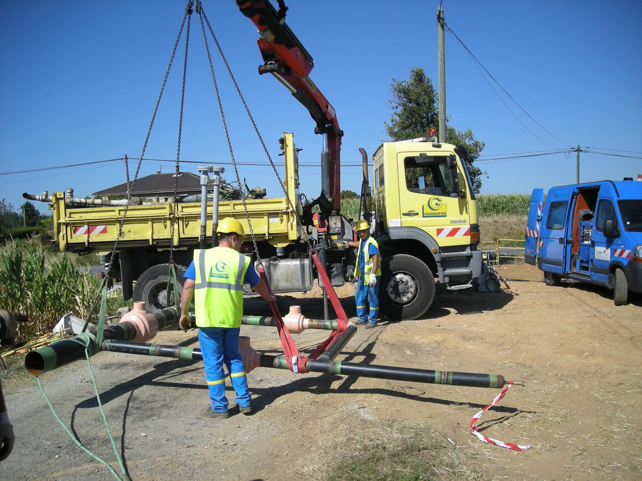 construction réseau distribution gaz giammatteo réseaux